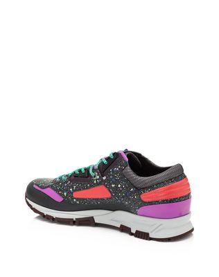 LANVIN Patchwork runners in fluorescent dappled calfskin and metallic calfskin Sneakers U r