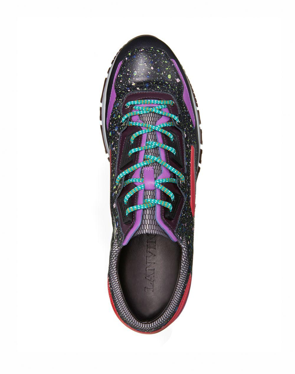 Patchwork runners in fluorescent dappled calfskin and metallic calfskin - Lanvin