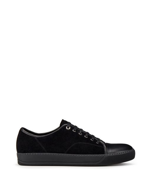 LOW-TOP DBB1 SUEDE CALFSKIN TRAINER - Lanvin