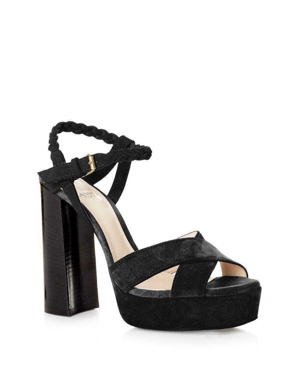Lanvin Ribbon Wrap Mid Heel Sandal iJfljlJI2F