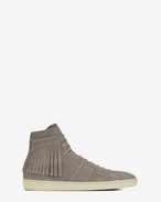 Signature COURT CLASSIC SL/18H Fringed Sneaker in Graphite Suede