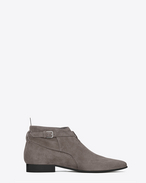 SAINT LAURENT Boots U Signature LONDON 20 Jodhpur Cropped Boot in Dark Anthracite Suede f