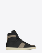 SAINT LAURENT SL/10H U Sneakers Signature COURT CLASSIC SL/10H neri e grigio grafite in pelle f