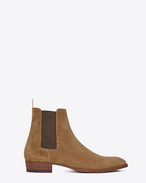 SAINT LAURENT Boots U Classic Wyatt 30 Chelsea Boot in Tobacco Suede f