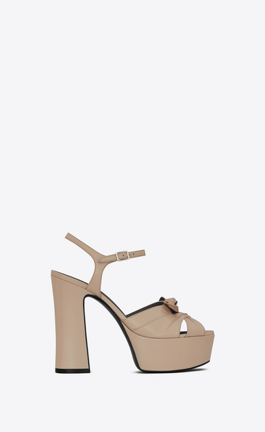 SAINT LAURENT Candy D CANDY 80 Bow Sandal in Powder Leather v4