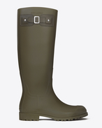 FESTIVAL 25 High Boot in Dark Khaki Rubber