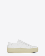 SAINT LAURENT Trainers D Signature COURT CLASSIC SL/39 Platform Sneaker in Off White Leather f