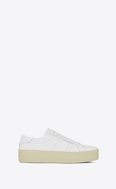 SAINT LAURENT Trainers D Signature COURT CLASSIC SL/39 Platform Sneaker in Off White Leather a_V4