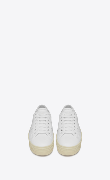 SAINT LAURENT Sneakers D Signature COURT CLASSIC SL/39 Platform Sneaker in Off White Leather b_V4