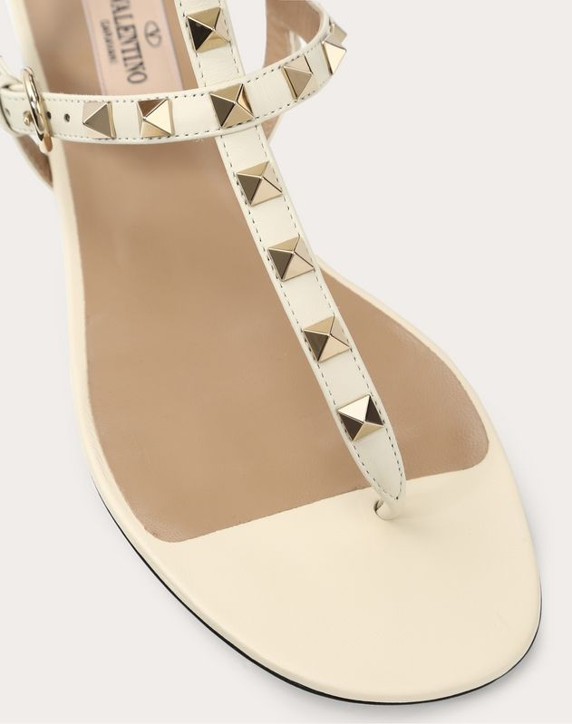 Rockstud Flip Flop Sandal in Calfskin Leather