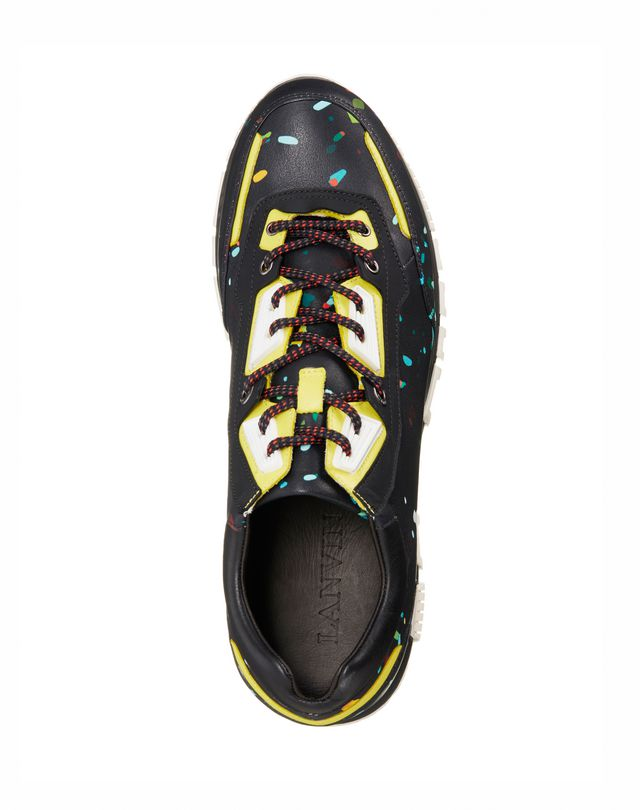 LANVIN Runners in printed polyester and calfskin Sneakers U d