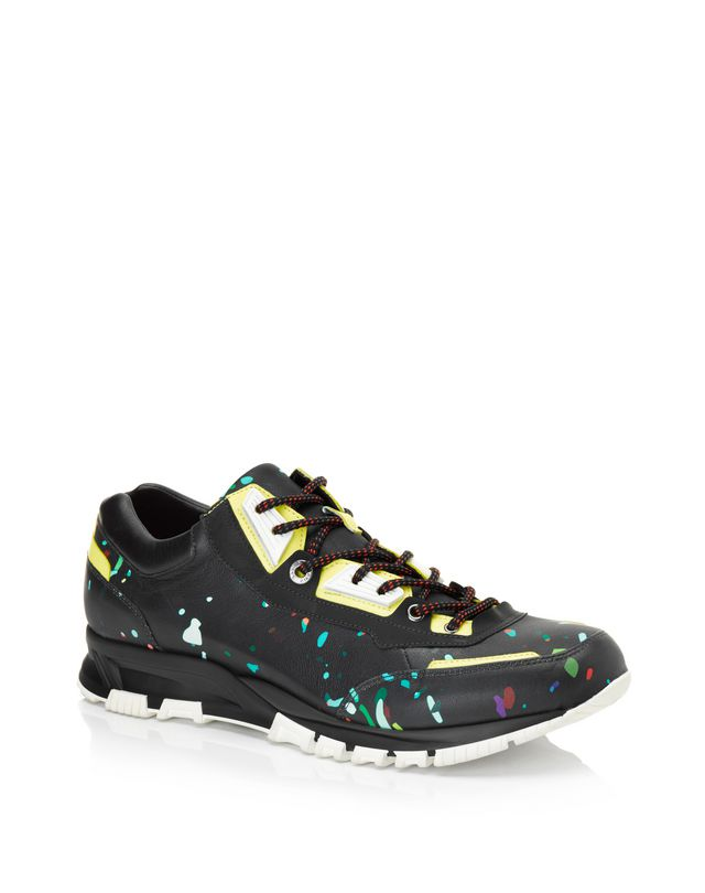 LANVIN Runners in printed polyester and calfskin Sneakers U f