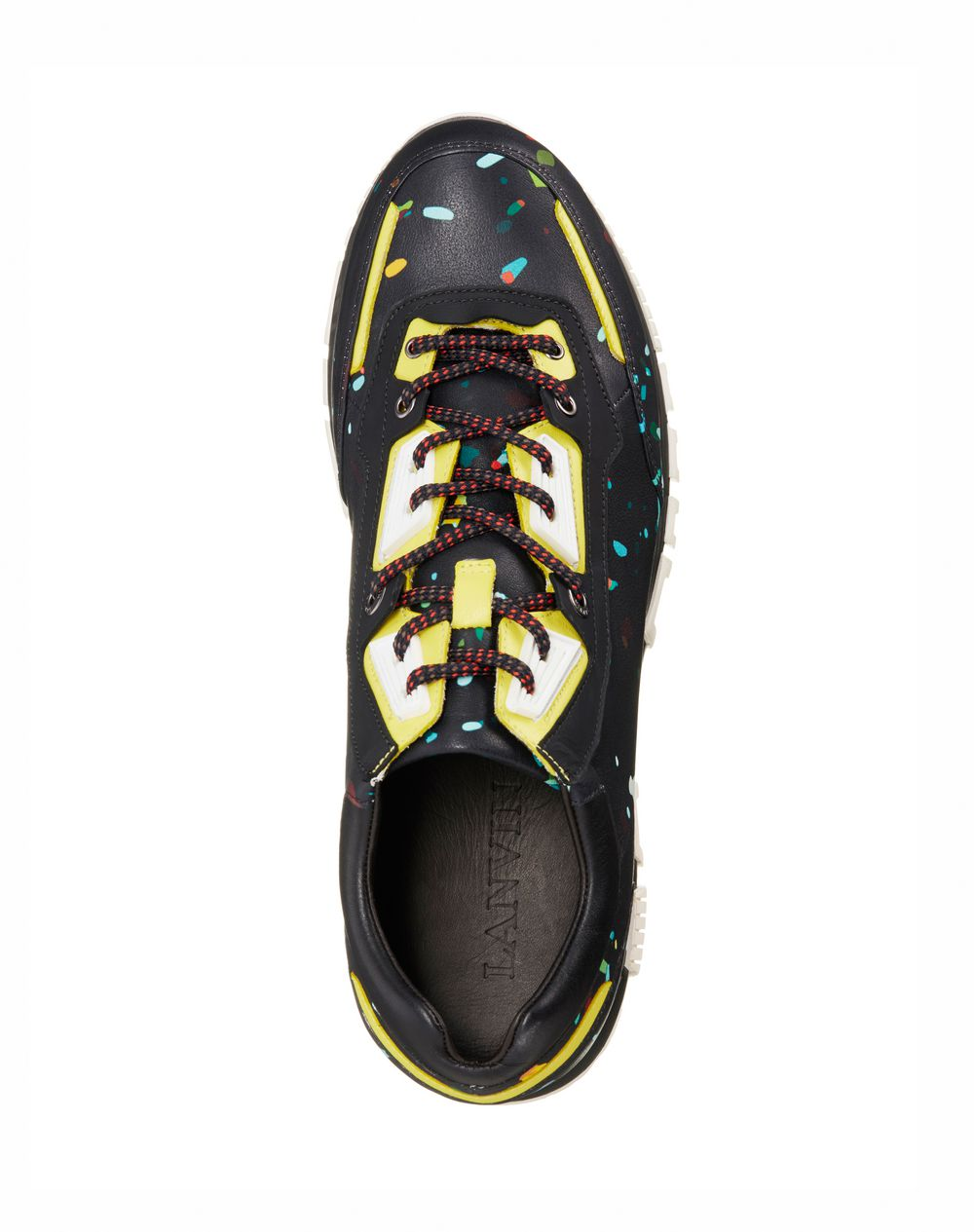 Runners in printed polyester and calfskin - Lanvin