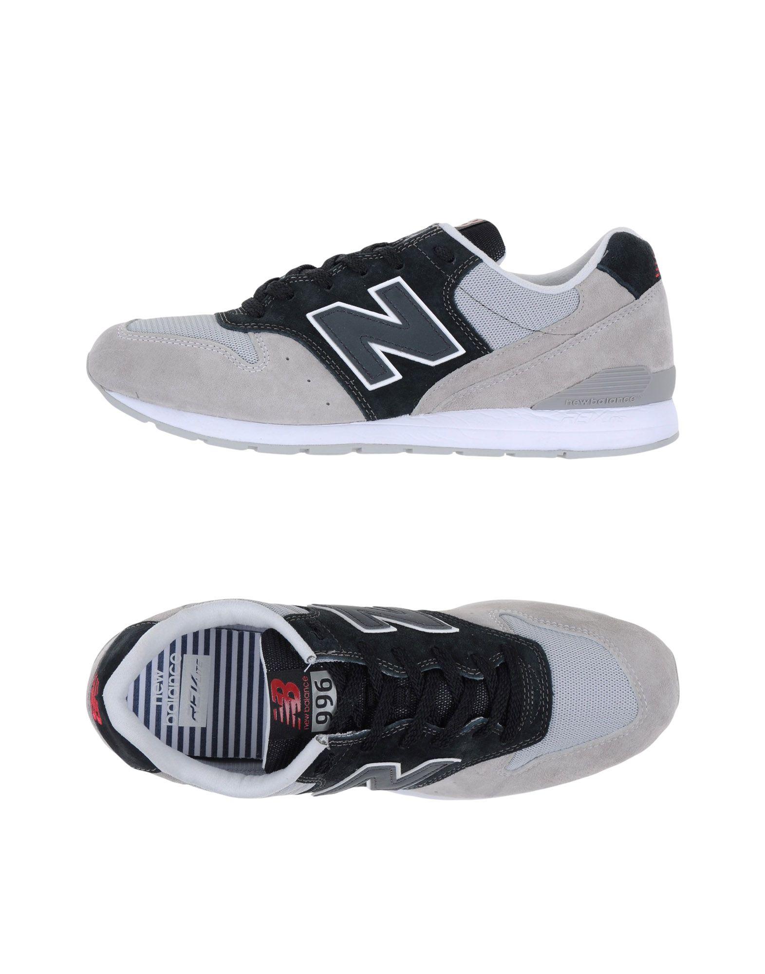 《セール開催中》NEW BALANCE メンズ スニーカー&テニスシューズ(ローカット) ライトグレー 7.5 革 / 紡績繊維 996 MESH
