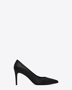 SAINT LAURENT High Heel Pump D classic paris skinny 80 escarpin pump in black leather f