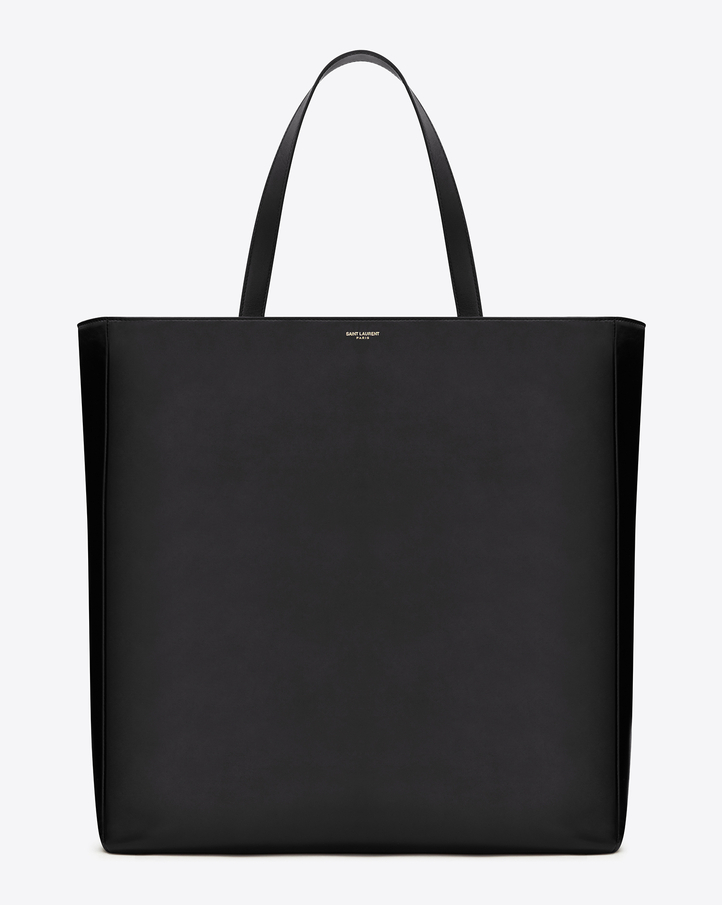 Saint Laurent Classic Large Museum Tote Bag In Black Leather | YSL.com