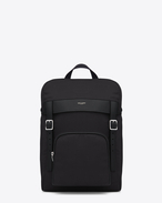 Hunting Rucksack in Black Canvas and Leather