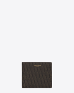 SAINT LAURENT Monogram SLG U CLASSIC TOILE MONOGRAM EAST/WEST WALLET WITH COIN POUCH IN BLACK PRINTED CANVAS AND LEATHER f
