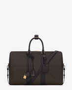 SAINT LAURENT Luggage U CLASSIC Toile Monogram DUFFLE 24 BAG IN BLACK printed CANVAS AND LEATHER f