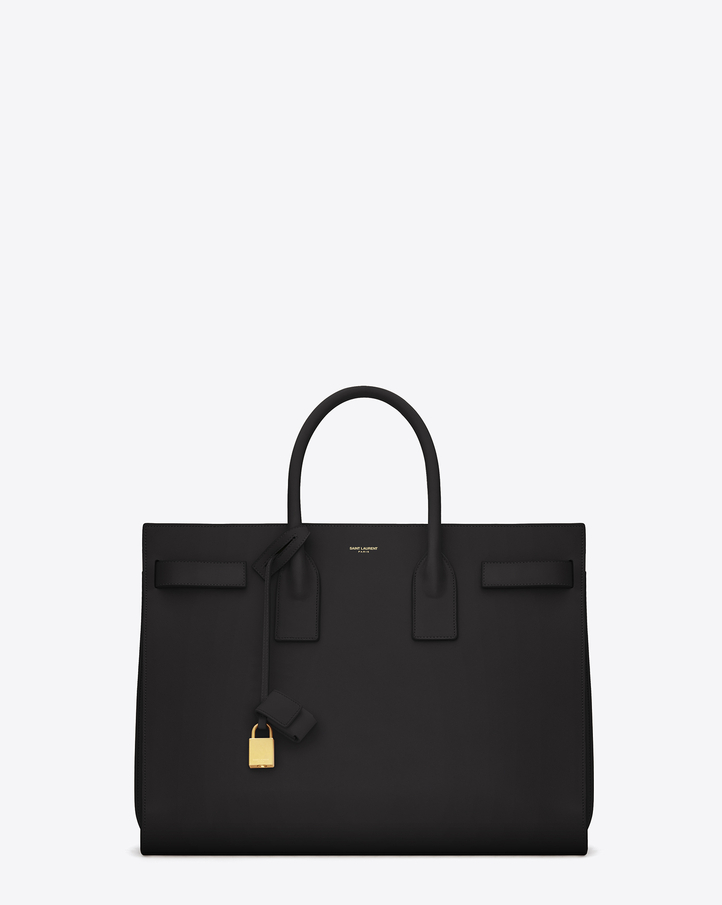Saint Laurent CLASSIC LARGE SAC DE JOUR BAG IN BLACK LEATHER | YSL.com