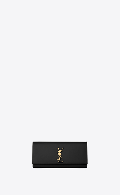 SAINT LAURENT MONOGRAM KATE CLUTCH D classic monogram clutch nera pelle grain de poudre v4