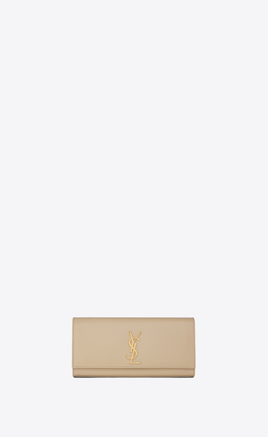 SAINT LAURENT MONOGRAM KATE CLUTCH Damen Kleine Kate Clutch aus schwarzem Leder mit Grain de Poudre Struktur V4