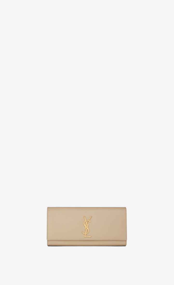 c6a223332852 Saint Laurent Kate Clutch In Grain De Poudre Embossed Leather ...
