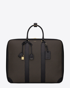 Classic Toile Monogram 48H Luggage in Black Printed Canvas and Leather