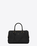Classic Duffle 6 Bag nera in pelle