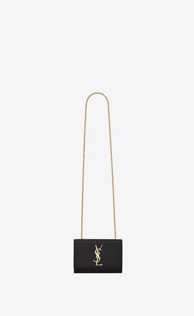 SAINT LAURENT MONOGRAM KATE D classic small kate satchel in black grain de poudre textured leather v4