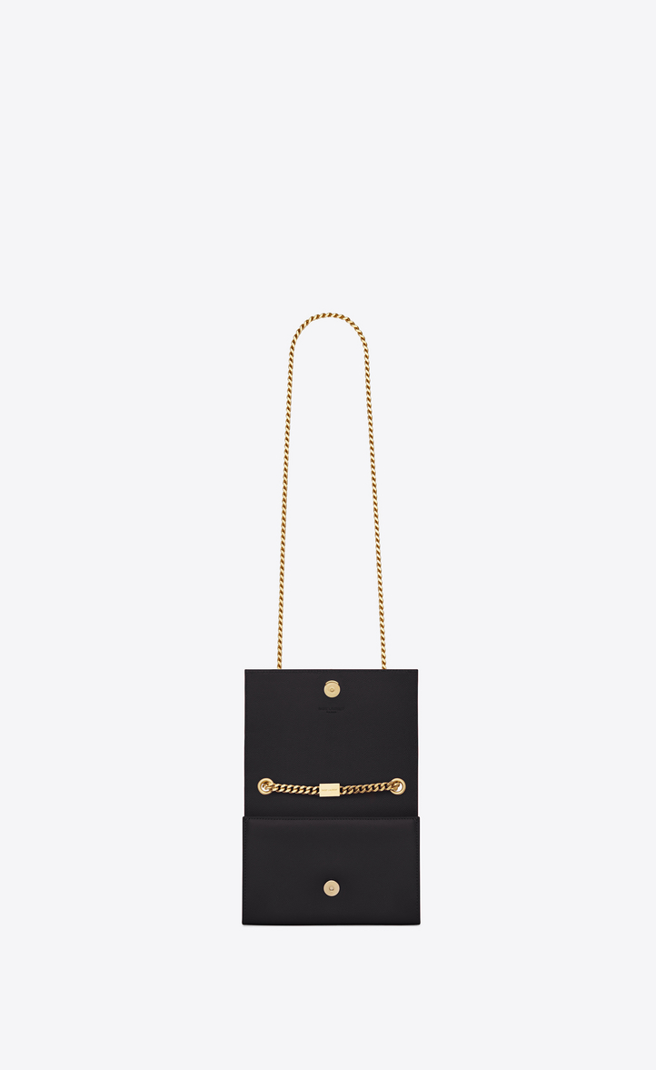 7285bff511 Zoom  classic small kate satchel in black grain de poudre textured leather
