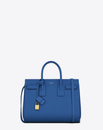 SAINT LAURENT Sac De Jour Small D Classic Small Sac de Jour Bag in Royal Blue Leather f