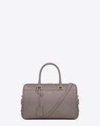 SAINT LAURENT Duffle Bags 6 D Klassische Duffle 6 Bag aus grauem Leder f