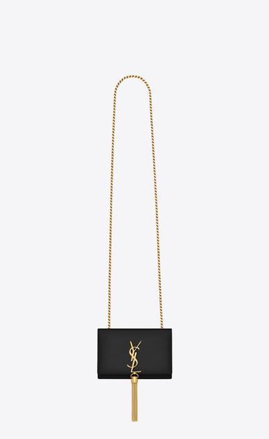 SAINT LAURENT Mini bags Kate D classic small kate tassel chain bag in black leather a_V4