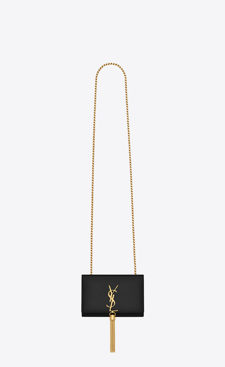 b0d80ebcda9 Saint Laurent Classic Small Kate Tassel Chain Bag In Black Leather ...