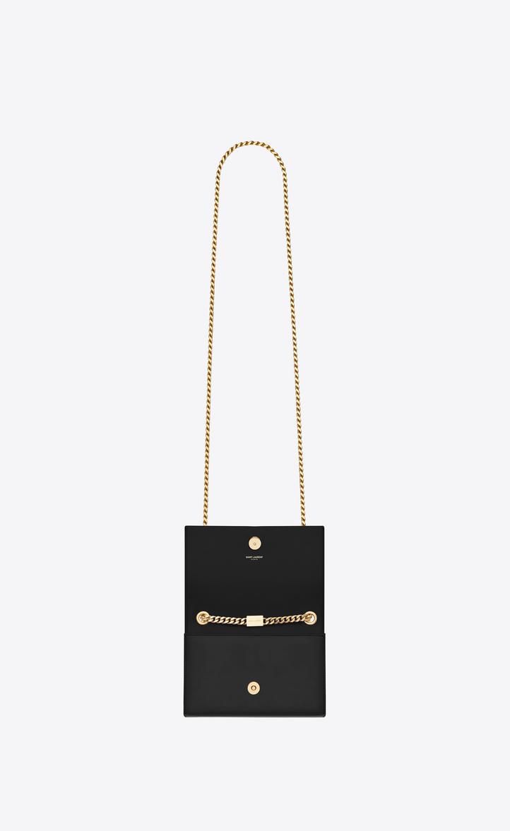 6208277985 Saint Laurent Classic Small Kate Tassel Chain Bag In Black Leather ...
