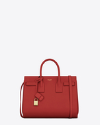 SAINT LAURENT Sac De Jour Small D Classic Small Sac De Jour Bag In Red Leather f