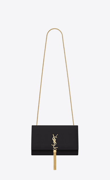 SAINT LAURENT MONOGRAM KATE WITH TASSEL D classic medium kate tassel satchel in black leather a_V4