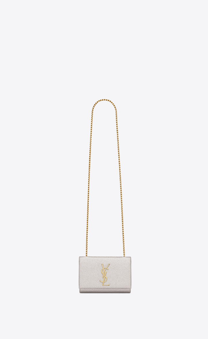 316d8de71018 Zoom  classic small kate satchel in pale gold grained metallic leather