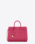 SAINT LAURENT Sac De Jour Small D CLASSIC SMALL SAC DE JOUR BAG in Lipstick FUCHSIA leather f