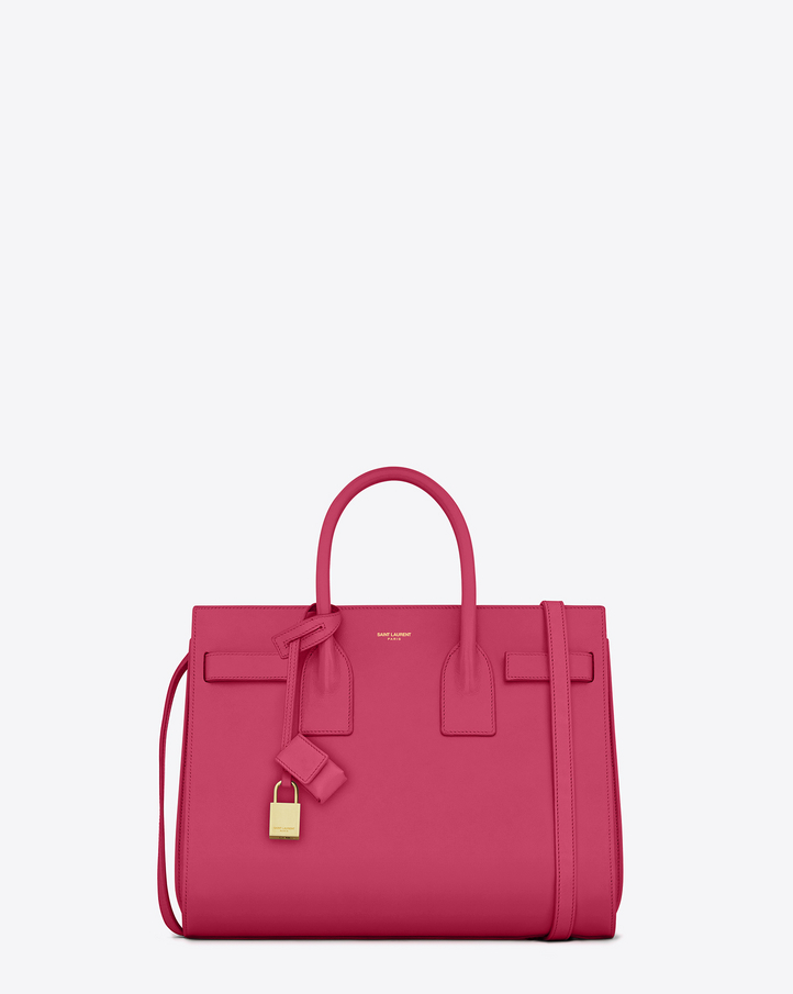 94ba046638 Saint Laurent CLASSIC SMALL SAC DE JOUR BAG In Lipstick .