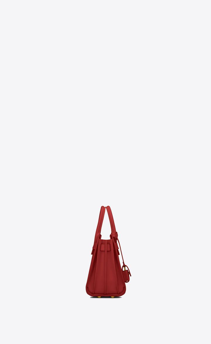 d6a0c07314 Saint Laurent Classic Nano Sac De Jour Bag In Lipstick Red Leather ...
