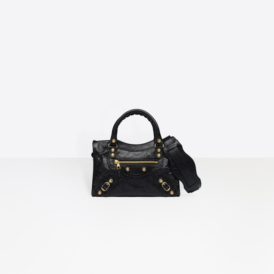 BALENCIAGA Giant 12 Oro Mini City Bolsos Giant City D f