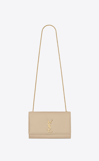 SAINT LAURENT MONOGRAM KATE Woman medium kate chain bag in powder textured leather a_V4