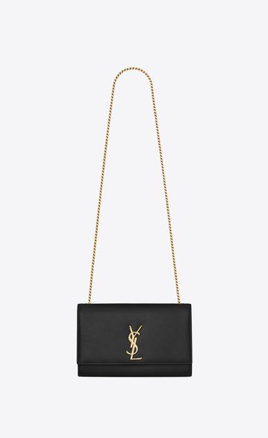 SAINT LAURENT MONOGRAM KATE D classic medium kate satchel in black grain de poudre textured leather v4