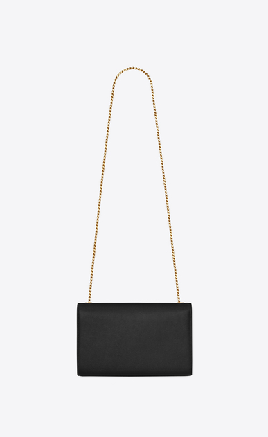 SAINT LAURENT MONOGRAM KATE Woman medium kate chain bag in black textured leather b_V4