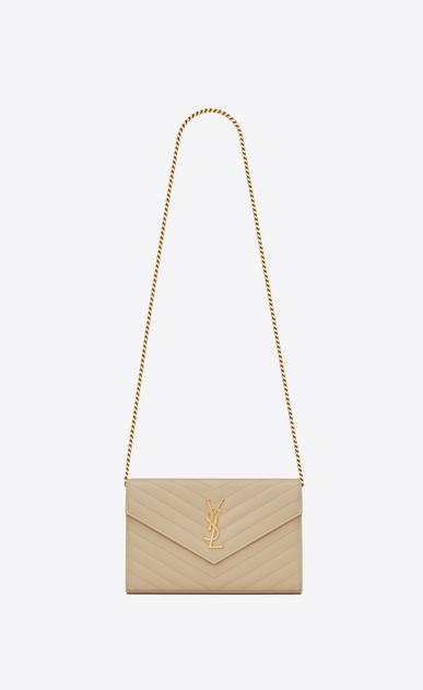 SAINT LAURENT Mini bags Matelassé D monogram chain wallet in powder grain de poudre textured matelassé leather v4