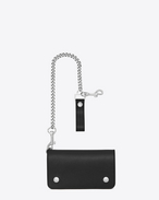 SAINT LAURENT rider slg U Rider Saint Laurent Chain Wallet in Black Leather f