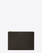SAINT LAURENT Monogram SLG U CLASSIC TOILE MONOGRAM tablet Mini Case IN BLACK Printed Canvas f