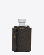 SAINT LAURENT Monogram SLG U CLASSIC TOILE MONOGRAM Flask in Black Printed Canvas and ALUMINIUM f